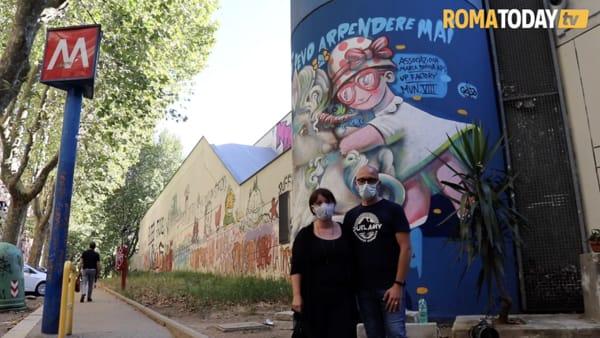 VIDEO | Il sorriso di Maria Sophia riempie San Paolo, il murale in ricordo della bimba morta di tumore