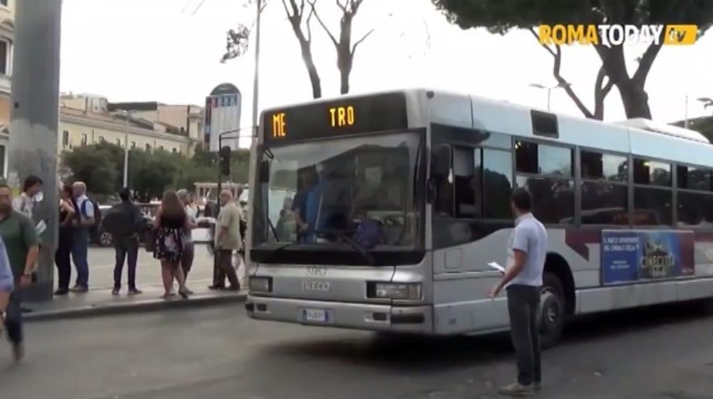 Metro A: stop tra Termini e Anagnina, caos sui bus sostitutivi