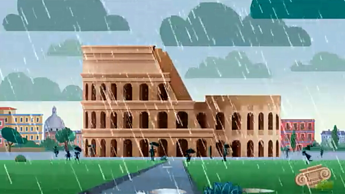 Il Colosseo sarà protagonista di un cartoon sull'ambiente