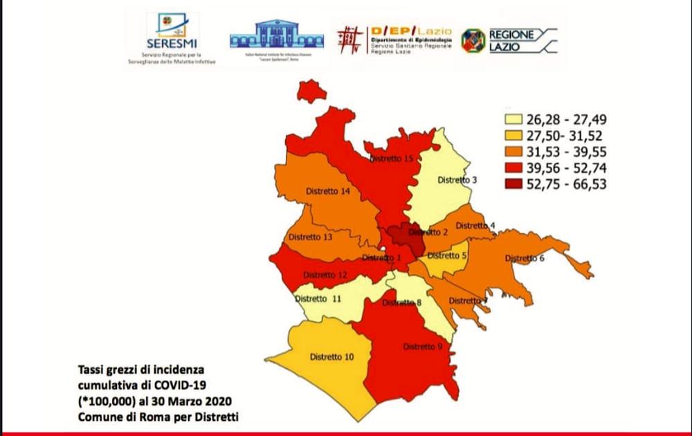 Cartina Politica Lazio.Roma Dove Ha Colpito Di Piu Il Coronavirus Ecco La Mappa Dei Contagi Nei Municipi