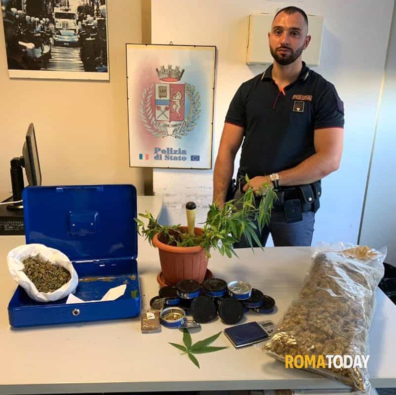 Marijuana in scatola Centocelle 5-2