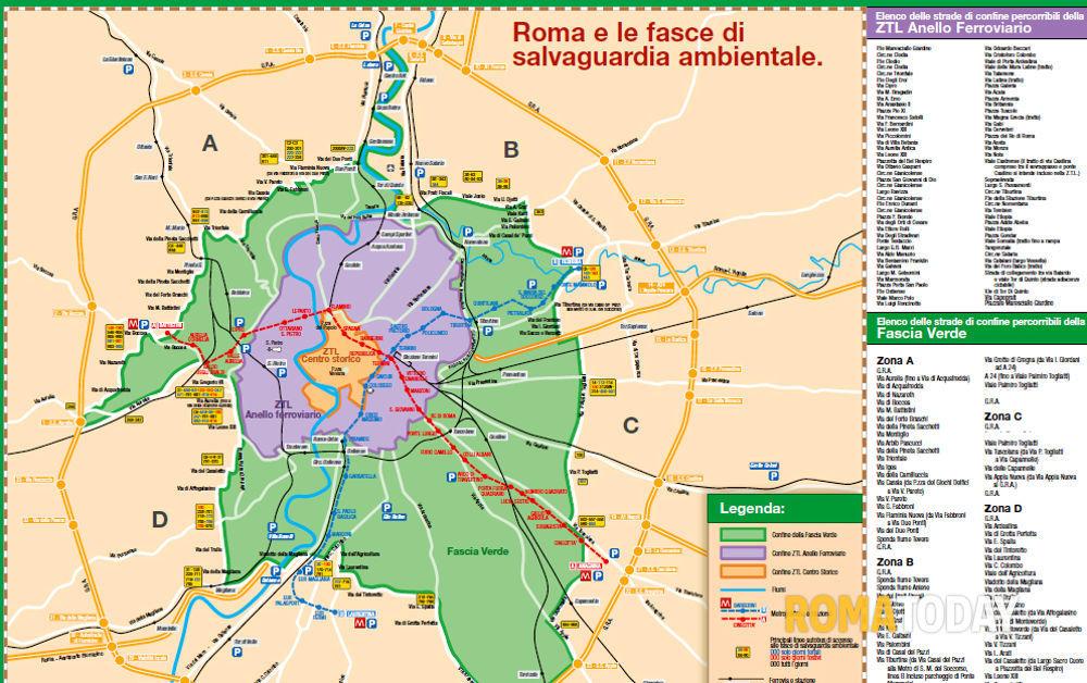 Cartina Citta Roma.La Mappa Della Fascia Verde A Roma