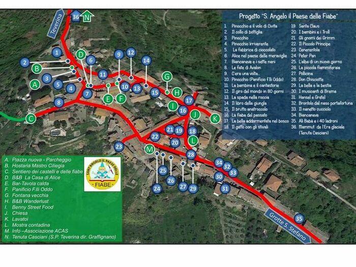 Cartina Geografica Di Viterbo E Provincia.Visitare Sant Angelo Di Roccalvecce La Guida