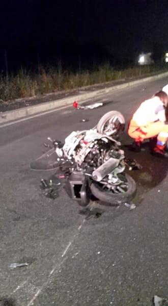 Incidente via Bordin Guidonia 1 (foto Giovanni F.)